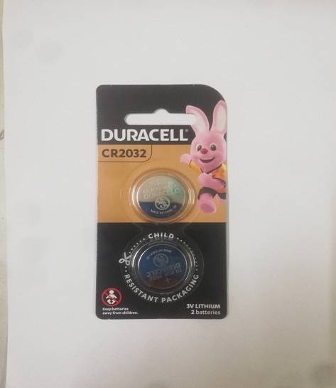 Pin duracell cr2032